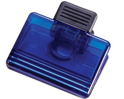 Blue-memo-clip-fridge-magnet