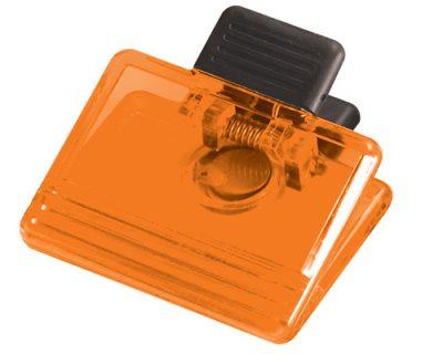 Orange-memo-clip-fridge-magnet