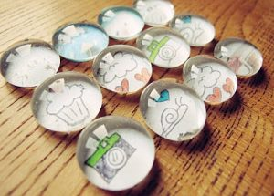 Cute glass bead fridge magnets
